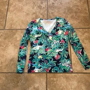 Lilly Pulitzer long sleeve top SZ Xsmall
